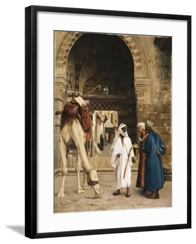 A Dispute Among Arabs; Dispute D'Arabes, 1872-Jean Leon Gerome-Framed Art Print