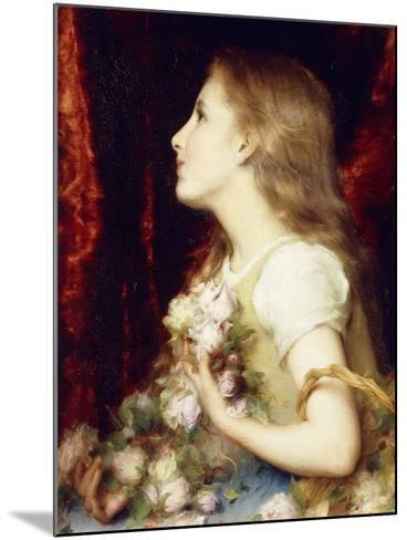 A Young Girl with a Basket of Flowers-Etienne Adolphe Piot-Mounted Giclee Print