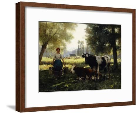 A Milkmaid with Her Cows on a Summer Day-Julien Dupre-Framed Art Print