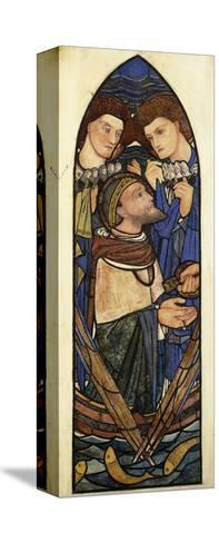St. Peter Sinking in the Sea of Tiberias-Edward Burne-Jones-Stretched Canvas Print