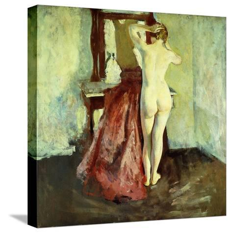 Nude before Mirror-Charles Webster Hawthorne-Stretched Canvas Print