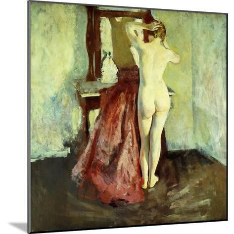 Nude before Mirror-Charles Webster Hawthorne-Mounted Giclee Print