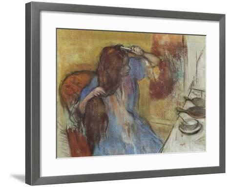Woman at Her Toilet; Femme a Sa Toilette, C.1889-Edgar Degas-Framed Art Print
