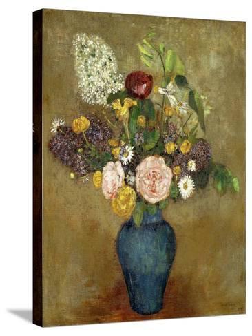 Vase of Flowers; Vase De Fleurs-Odilon Redon-Stretched Canvas Print