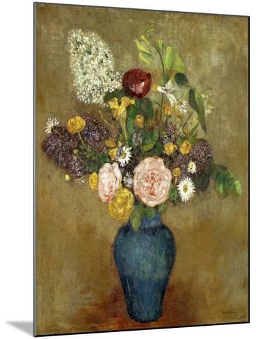 Vase of Flowers; Vase De Fleurs-Odilon Redon-Mounted Giclee Print