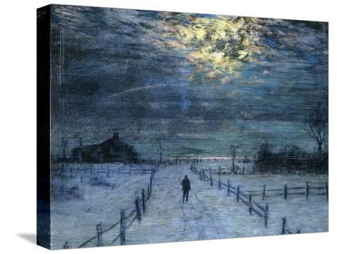 A Wintry Walk-Lowell Birge Harrison-Stretched Canvas Print