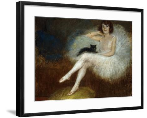 Ballerina with a Black Cat-Pierre Carrier-belleuse-Framed Art Print