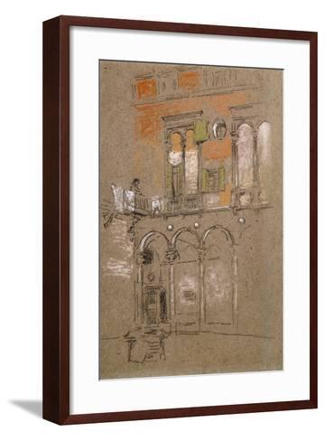 A Venetian Courtyard-James Abbott McNeill Whistler-Framed Art Print