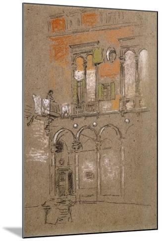 A Venetian Courtyard-James Abbott McNeill Whistler-Mounted Giclee Print