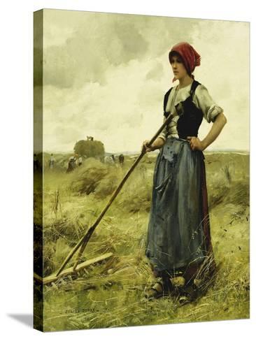 Harvest Time, 1890-Julien Dupre-Stretched Canvas Print