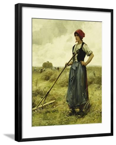 Harvest Time, 1890-Julien Dupre-Framed Art Print