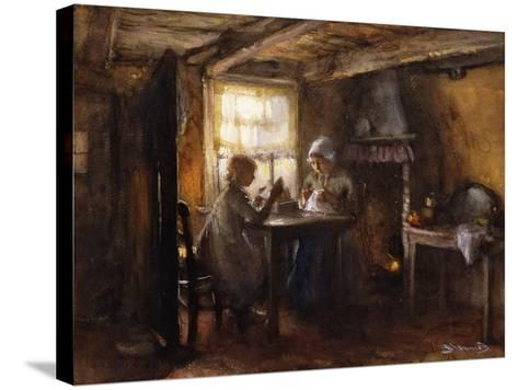 A Quiet Afternoon-Bernardus Johannes Blommers or Bloomers-Stretched Canvas Print