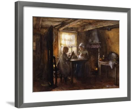 A Quiet Afternoon-Bernardus Johannes Blommers or Bloomers-Framed Art Print