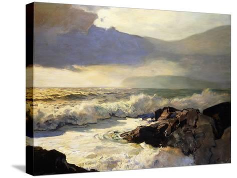 Rain Clouds and Sea-Frederick Judd Waugh-Stretched Canvas Print