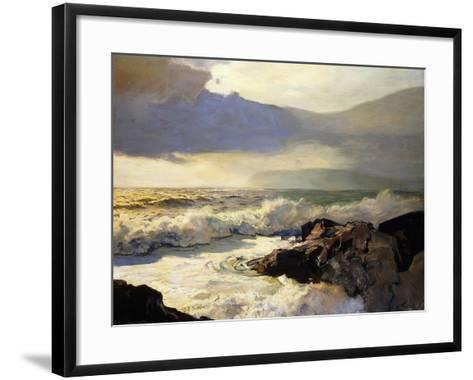 Rain Clouds and Sea-Frederick Judd Waugh-Framed Art Print