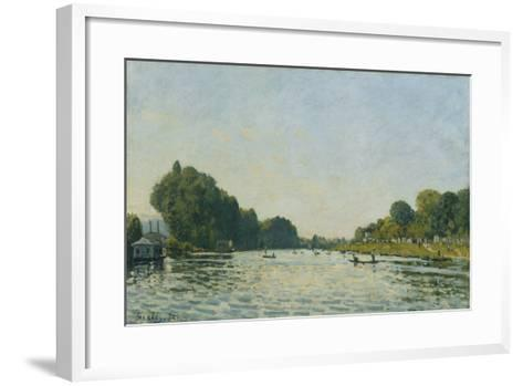 The Seine at Bougival; La Seine a Bougival, 1872-Alfred Sisley-Framed Art Print