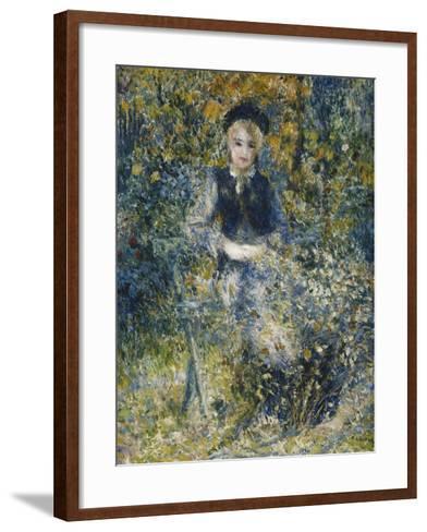 Young Girl on a Bench; La Jeune Fille Au Banc, 1875-Pierre-Auguste Renoir-Framed Art Print