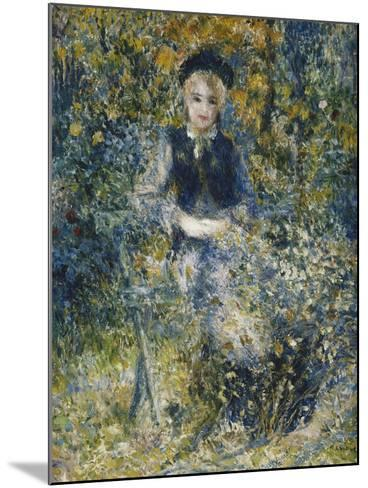 Young Girl on a Bench; La Jeune Fille Au Banc, 1875-Pierre-Auguste Renoir-Mounted Giclee Print