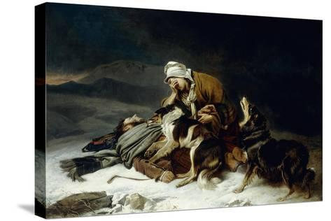 Lost in the Storm-Richard Ansdell-Stretched Canvas Print