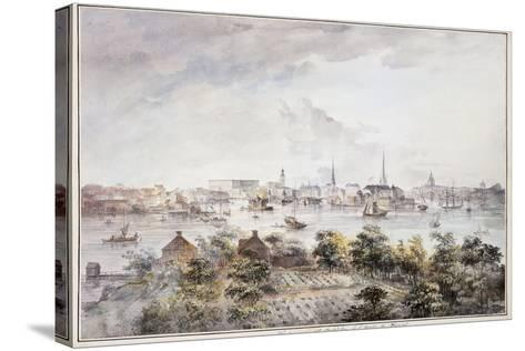 A View of Stockholm from Kungsholmen with the Royal Palace and Storkyrkan, Tyskakyrkan,…-Elias Martin-Stretched Canvas Print