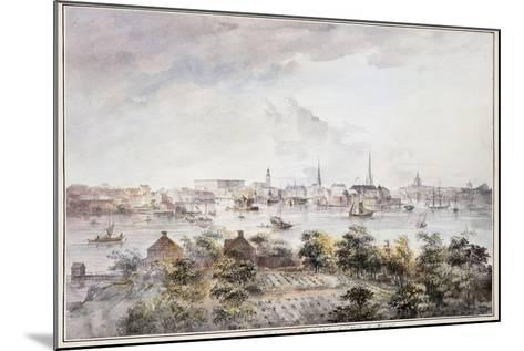 A View of Stockholm from Kungsholmen with the Royal Palace and Storkyrkan, Tyskakyrkan,…-Elias Martin-Mounted Giclee Print