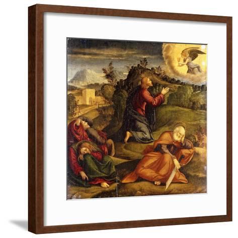 The Agony in the Garden-Girolamo da Santacroce-Framed Art Print