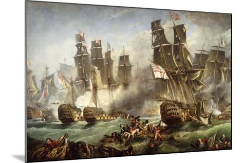 The Battle of Trafalgar--Mounted Giclee Print