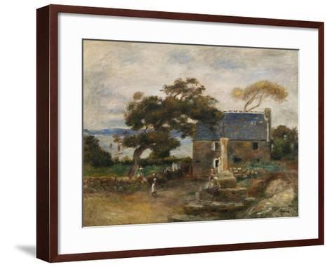 Treboul, Near Douardenez, Brittany; Treboul, Pres De Douardenez, Bretagne, 1895-Pierre-Auguste Renoir-Framed Art Print