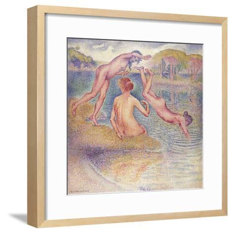 The Bathers (The Joyful Bathing); Les Baigneuses (La Joyeuse Baignade), 1899-1902-Henri Edmond Cross-Framed Art Print