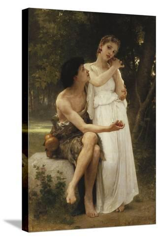 First Jewellery; Premier Bijoux, 1891-William Adolphe Bouguereau-Stretched Canvas Print