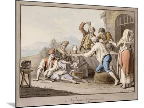 Neopolitans Eating Macaroni; Napolitani Mangia Maccaroni-Saviero Xavier Della Gatta-Mounted Giclee Print