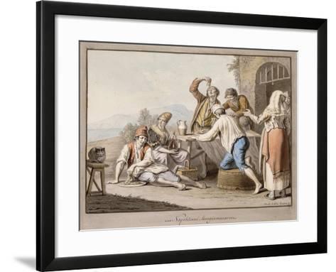Neopolitans Eating Macaroni; Napolitani Mangia Maccaroni-Saviero Xavier Della Gatta-Framed Art Print