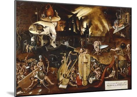 Hell-Hieronymus Bosch-Mounted Giclee Print