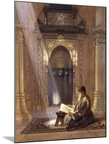 In the Mosque, (Watercolour Heightened with White and Touches of Gum Arabic 63)-Carl Friedrich Heinrich Werner-Mounted Giclee Print