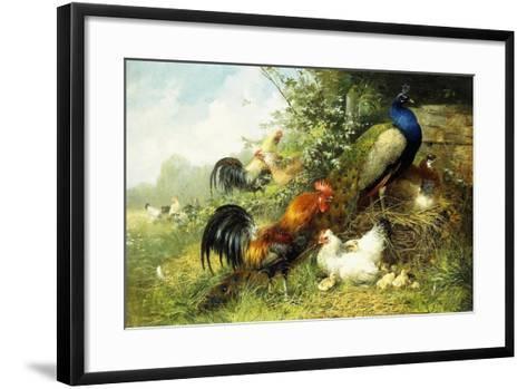 Fowl and Peacocks, 1899-Arthur Fitzwilliam Tait-Framed Art Print