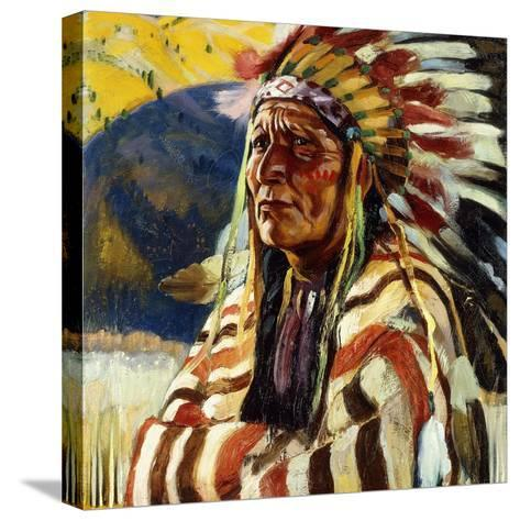 Chief Thundercloud-Walter Ufer-Stretched Canvas Print