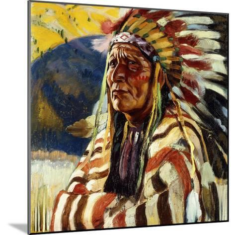 Chief Thundercloud-Walter Ufer-Mounted Giclee Print