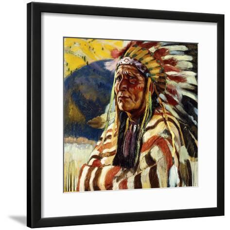 Chief Thundercloud-Walter Ufer-Framed Art Print