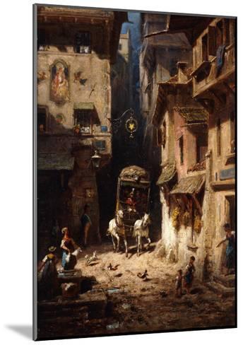 The Post; Die Post, C.1875-1880-Carl Spitzweg-Mounted Giclee Print