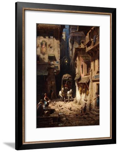 The Post; Die Post, C.1875-1880-Carl Spitzweg-Framed Art Print