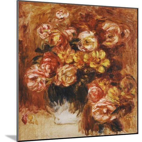 Vase of Roses; Vase De Roses-Pierre-Auguste Renoir-Mounted Giclee Print