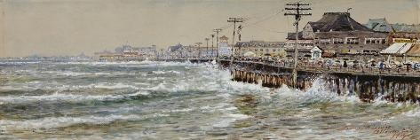 Atlantic City-Edmund Darch Lewis-Stretched Canvas Print