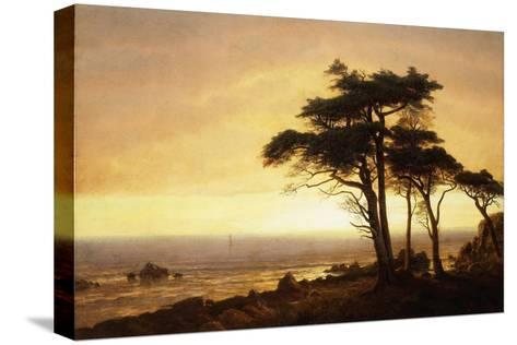 California Coast-Albert Bierstadt-Stretched Canvas Print