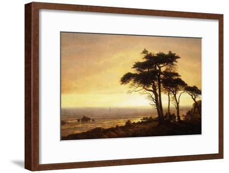 California Coast-Albert Bierstadt-Framed Art Print