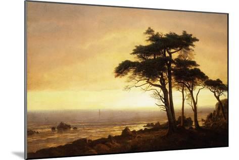 California Coast-Albert Bierstadt-Mounted Giclee Print