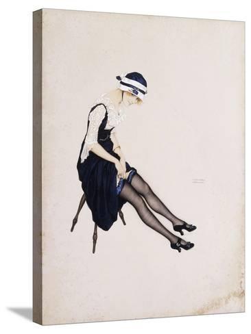 The Garter-Ernst Ludwig Kirchner-Stretched Canvas Print