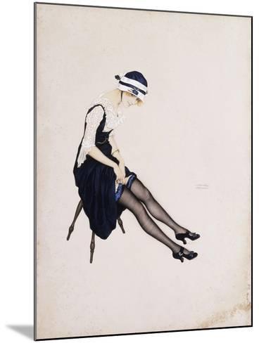 The Garter-Ernst Ludwig Kirchner-Mounted Giclee Print