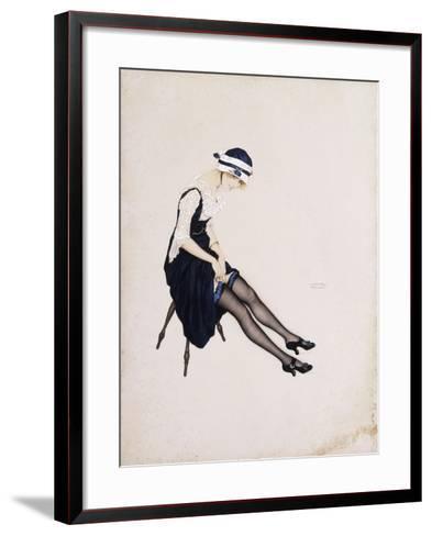 The Garter-Ernst Ludwig Kirchner-Framed Art Print