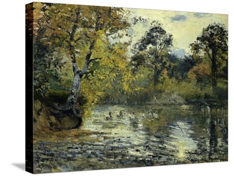 The Pond at Montfoucault; L'Etang De Montfoucault, 1874-Camille Pissarro-Stretched Canvas Print