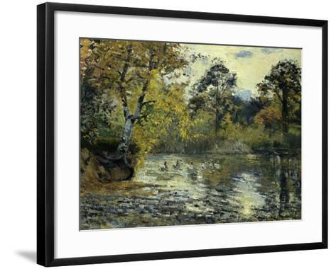 The Pond at Montfoucault; L'Etang De Montfoucault, 1874-Camille Pissarro-Framed Art Print